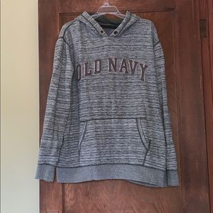 Green striped old navy logo hoodie xxl